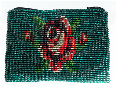 Coin Bag or Rosary Bead Bag - Rose