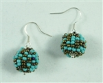 Tanya Earrings - Seafoam/Coffee