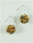 Tanya Earrings - Gold/Brown