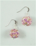 Earrings - Ball Pink Confetti