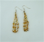 Earrings- Gold Crystals Dangle
