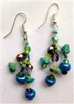 Earrings - Blue, Grape, Lime