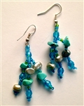 Earrings- Turquoise Lime Dangle