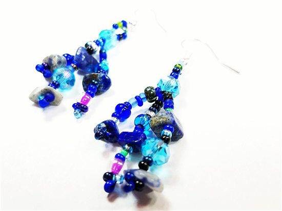 Easy Elegance Earrings - Ocean Blue