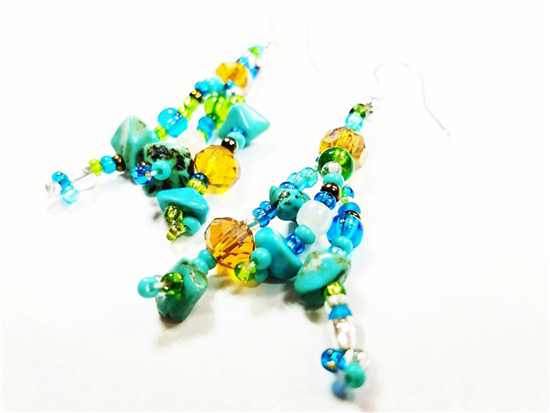 Easy Elegance Earrings - Turquoise/Lime