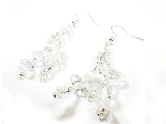 Easy Elegance Earrings - Silver/White