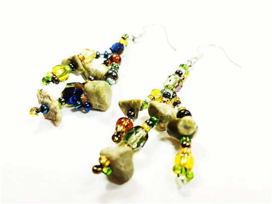 Easy Elegance Earrings - Olive/Lime