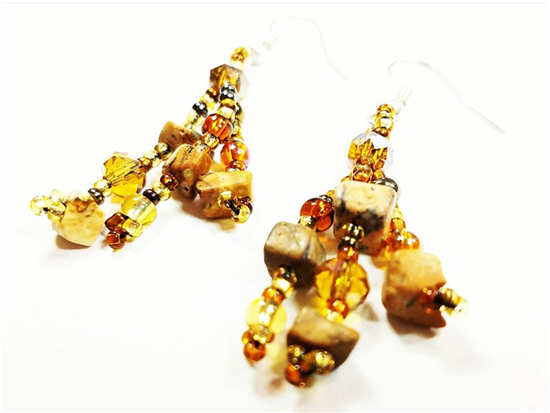Easy Elegance Earrings - Amber/Gold