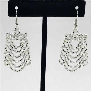 Earrings - Ripple Silver