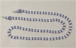 Eyeglass Chain - Blue Periwinkle Pearl Flowers