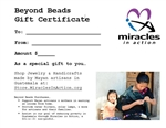 Beyond Beads Gift Certificate