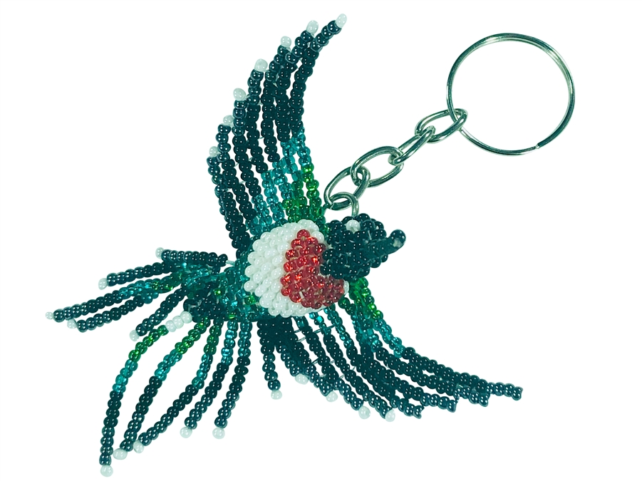 Keychain Charm - Hummingbird - Ruby Throated