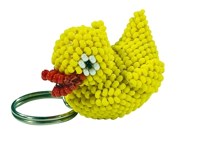 Keychain Charm - Duck - Yellow