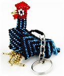 Keychain Charm - Rooster - Blue