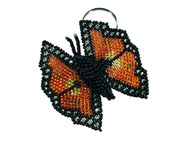 Keychain Charm - Butterfly Monarch