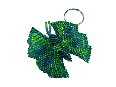 Keychain Charm - Butterfly Greens