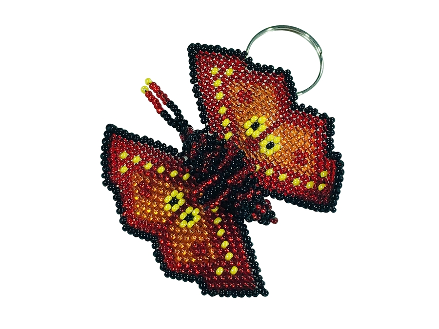 Keychain Charm - Butterfly Red