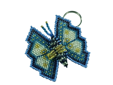 Keychain Charm - Butterfly - Periwinkle