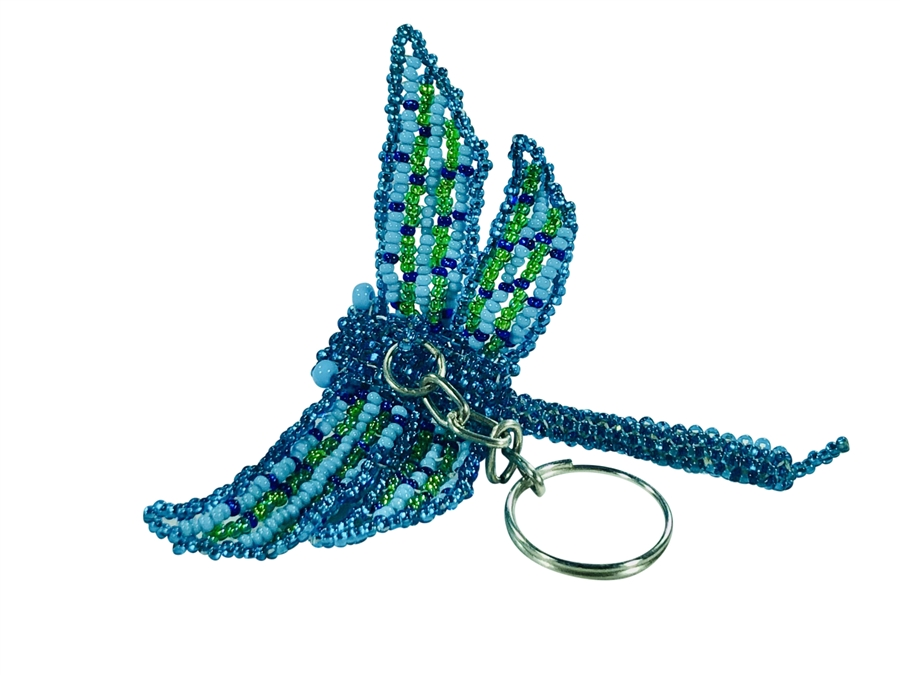 Keychain Charm - Dragonfly - Turquoise LIme