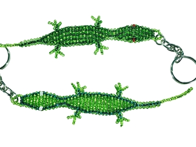 Keychain Charm Lizard - Lime/Green