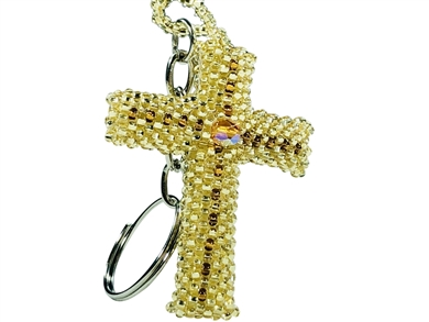 Keychain Charm - Cross Gold