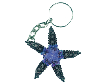 Keychain Charm - Starfish - Purple