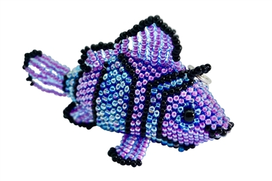 Keychain Charm - Clown Fish lavender/blue/black