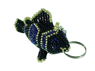 Keychain Charm - Clown Fish - Black/gold/purple