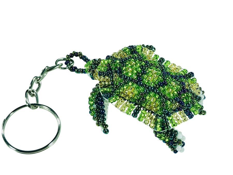 Keychain Charm - Turtle - Green/Gold/Lime