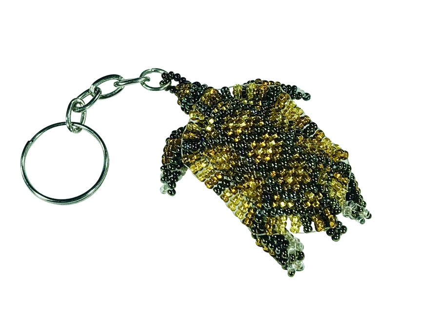 Keychain Charm - Turtle - Brown/Gold/ Amber