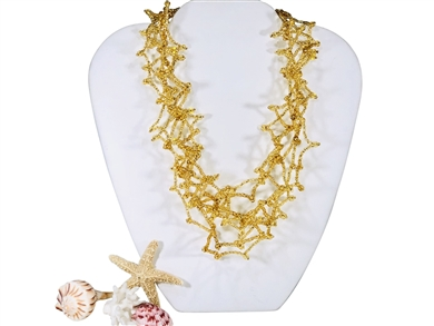 Necklace - Coral Gold