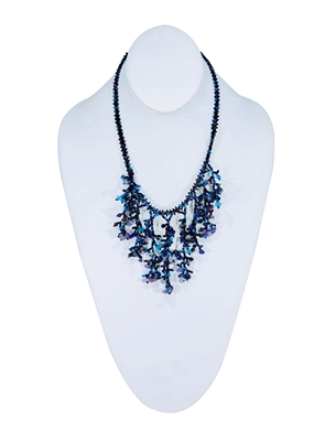 Necklace - Cleavage Blue/Grape