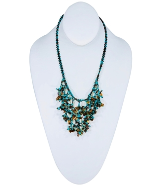 Necklace - Cleavage Turquoise/Coffee