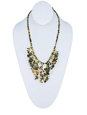 Necklace - Iridescent Green/Gold