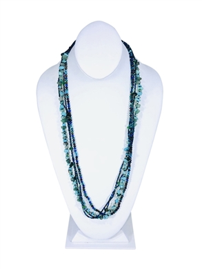 Easy Elegance Necklace - Turquoise/Grape/Blue