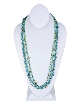 Easy Elegance Necklace - Turquoise/Lime