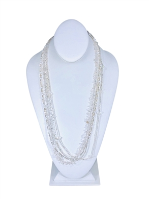 Easy Elegance Necklace - Silver/White