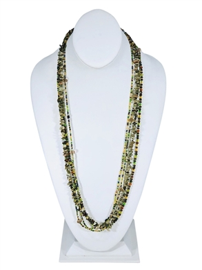 Easy Elegance Necklace - Olive/Lime