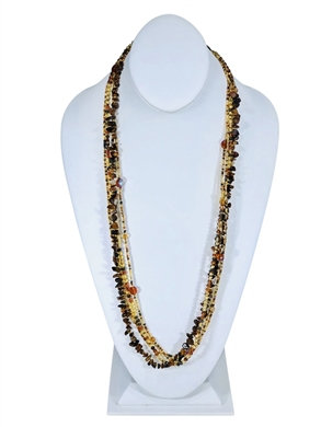 Easy Elegance Necklace - Amber/Gold