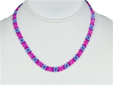 Necklace - Flower Chain Pink/Lilac