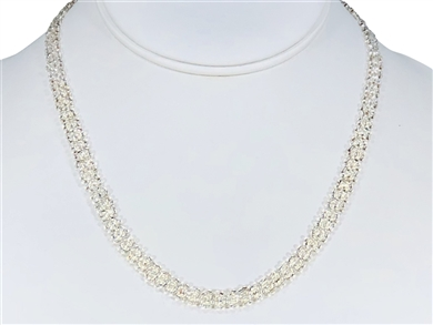 Necklace - Flower Chain Silver