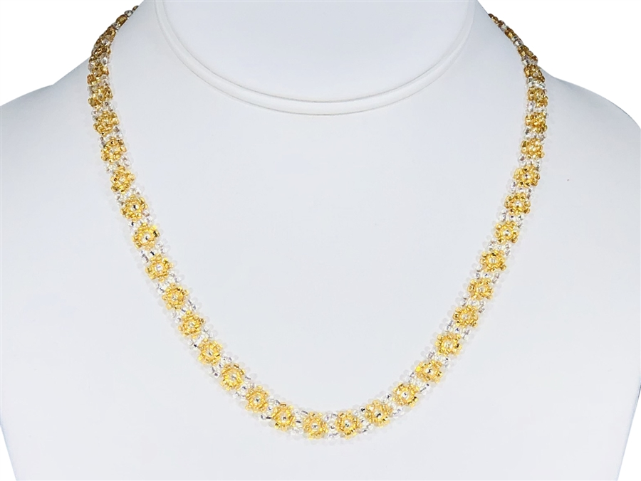 Necklace - Flower Chain Gold