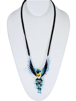 Necklace - Hummingbird blue