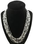 Necklace Mia - Silver/Black/Confetti