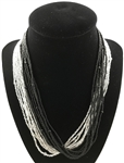 Necklace Mia - Silver/Black