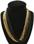 Necklace - Mia Gold/Black