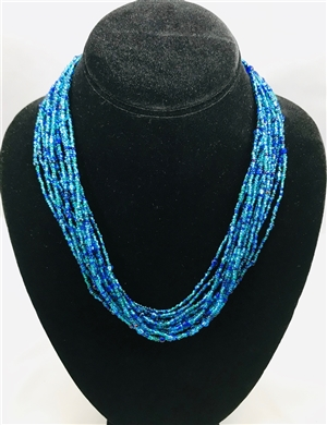 Necklace Mia - Blue/Grape/Confetti