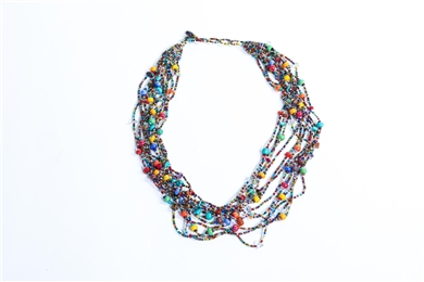 Necklace - 12 Strand Multicolor