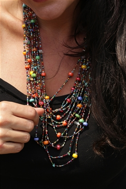 Necklace - Cascade Multicolor