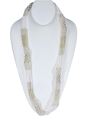 Lucia Necklace - White/Silver